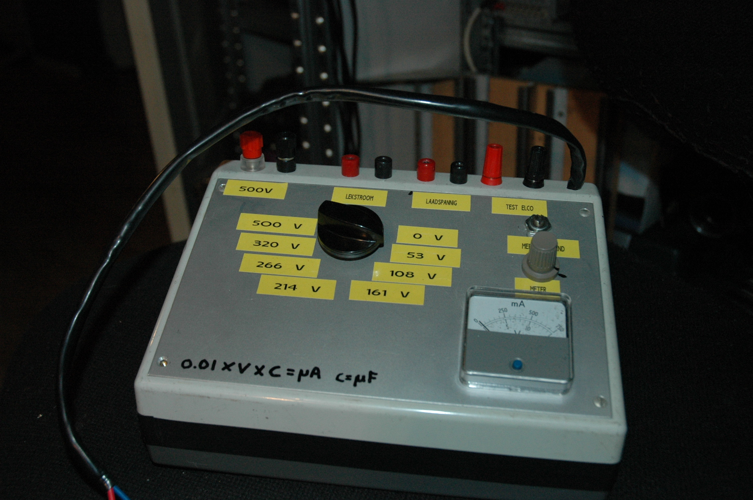 Dc Leakage And Reforming Electrolytic Caps Pa4tims Opvangtehuis Capacitor Tester Schematic Elco