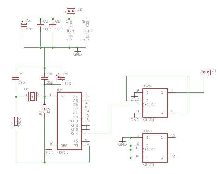 1 Hz clock generator