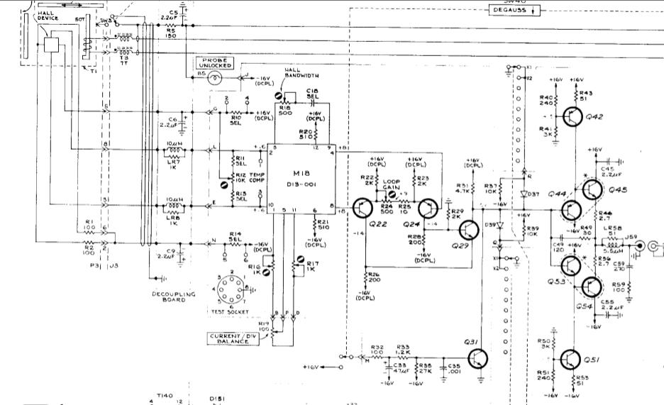 textronix p6042 current probe repair