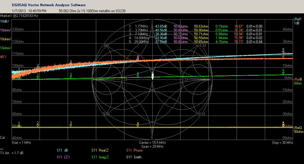 two  1% 100 Ohm metalfilm resistors