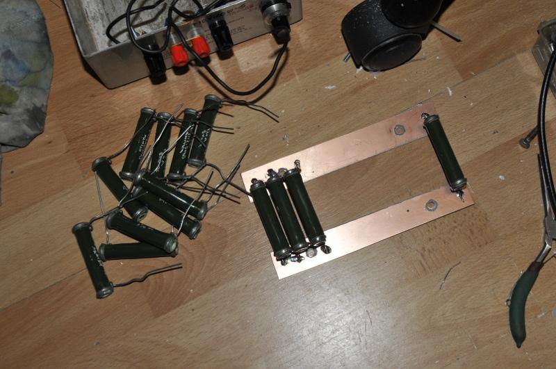 Soldering the 10W 120 Ohm resistors
