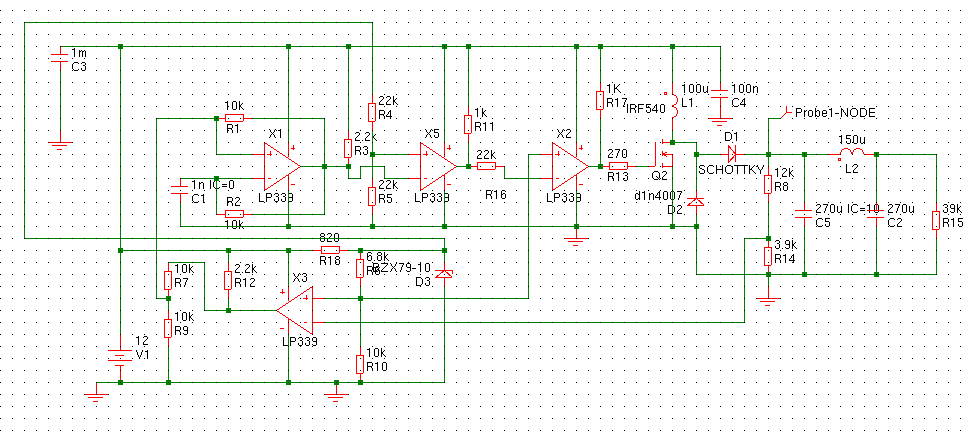 corrected schematic including zener diode