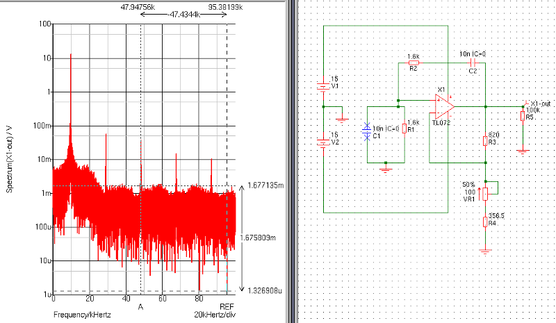 Principle, do not look at the values. A TL072 is not capable of running at 10 kHz.
