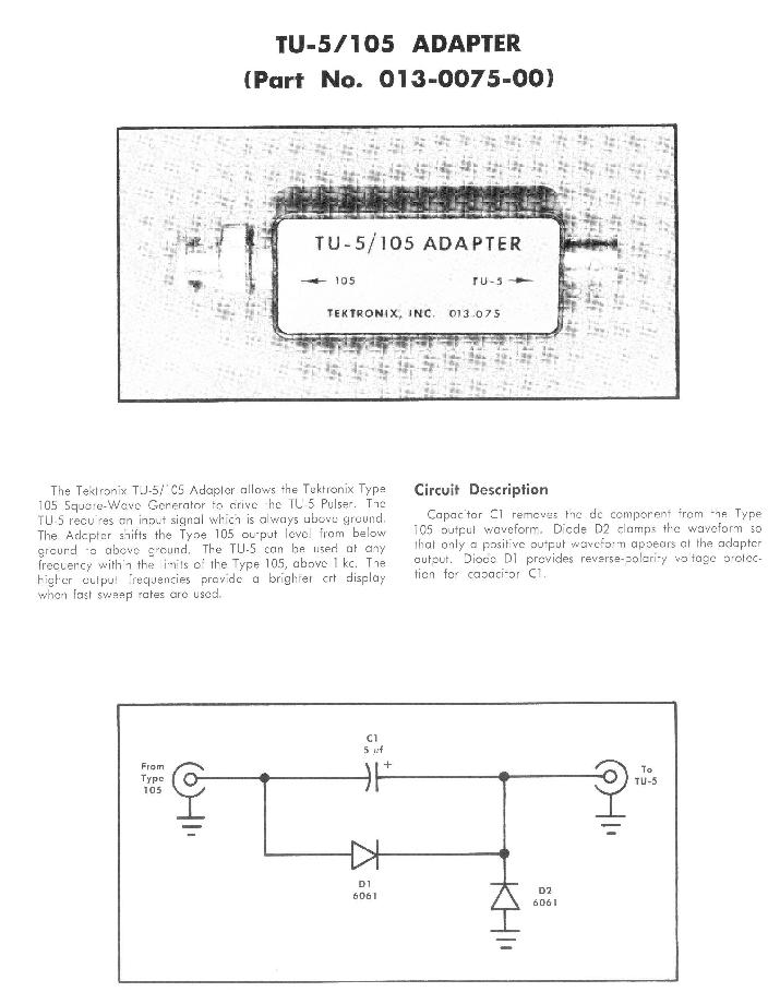 TU-5 pulser adapter