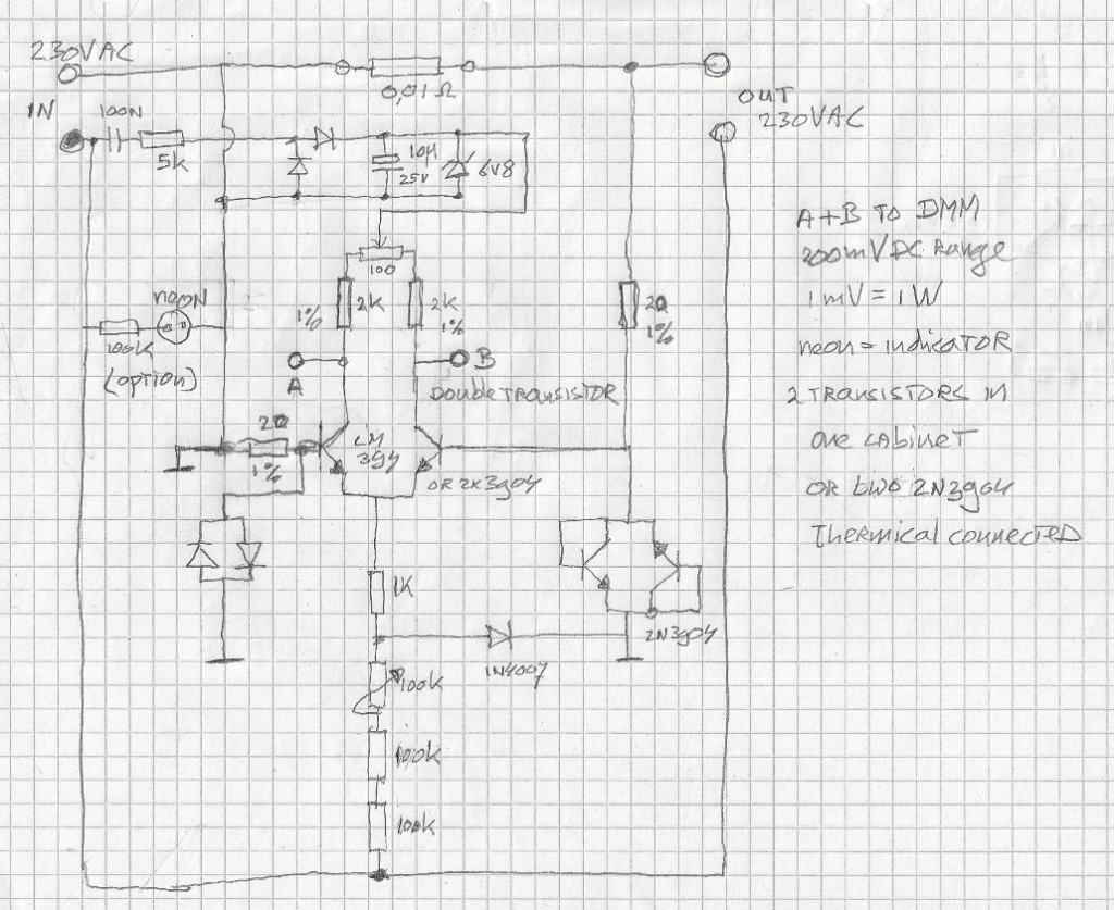 230V schematic in Fred-cad
