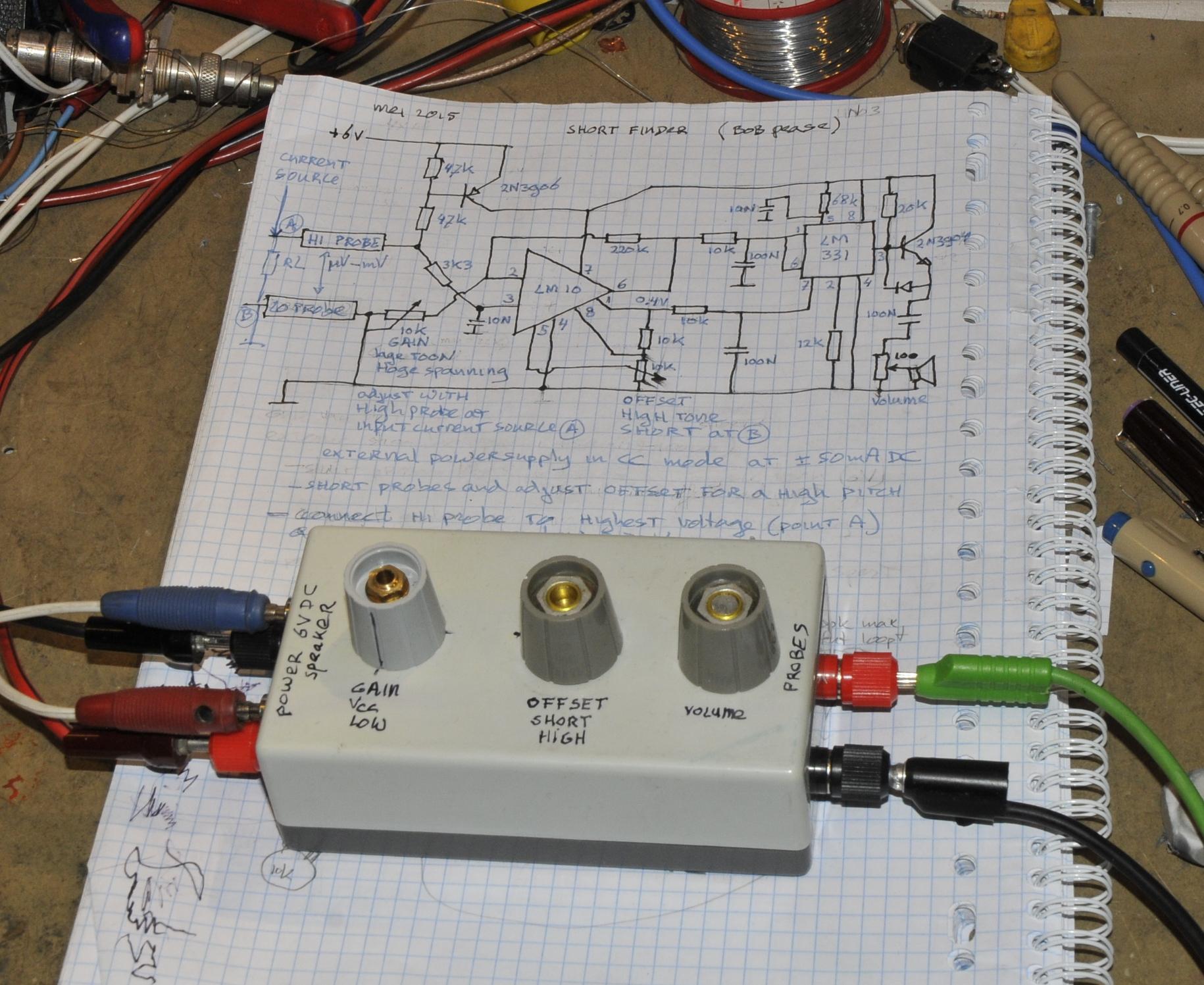 Short Circuits Finding Pa4tims Opvangtehuis Voor Buizenbakken Simple Signal Generator For Tracing Circuit Diagram Bob Pease